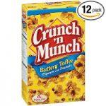 Crunch 'n Munch Toffee Popcorn (Pack of 12) – $6.42