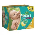 Pampers Baby Dry and Swaddler Diapers Various Sizes – $29