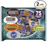 Hershey's Halloween Candy, 75-Piece, 39.9-Ounce Bags (Pack of 2) – $10.03