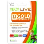 Xbox 360 Live Subscription Gold Card – 12 Months for $35