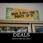 Humor on Deals