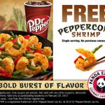FREE Single Serving Entree of Peppercorn Shrimp Feb 22nd!