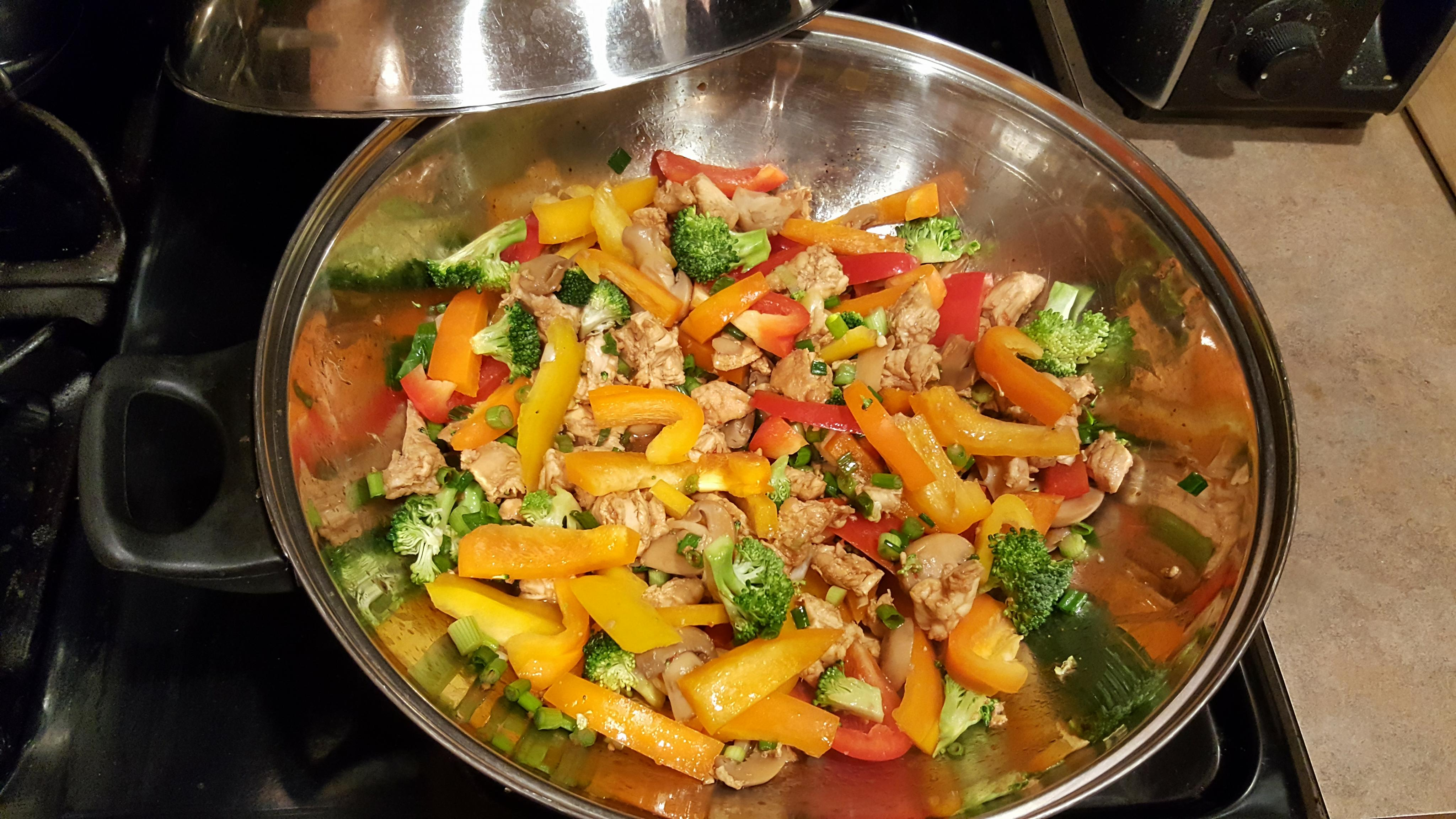 pepper chicken stir fry