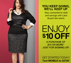 lane bryant 10 off 10