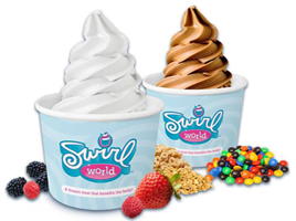 free frozen yogurt at swirl world