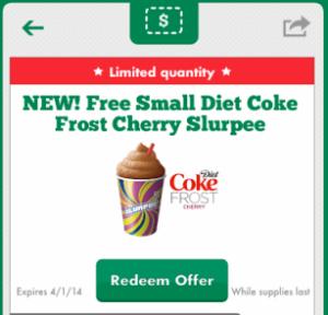 free small diet coke frost cherry slurpee