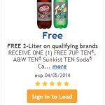 FREE Dr. Pepper or 7-Up TEN 2-Liter at Kroger Stores