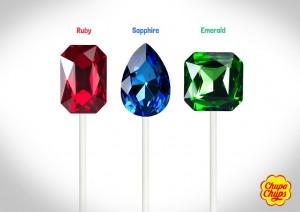 chupa chups gem lollipops