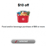 Get $10 off $50 Grocery Purchase at Target!