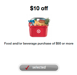 $10 off $50 Grocery Purchase at Target