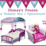 Disney's Frozen Canopy Toddler Bed & Upholstered Chair Giveaway!!