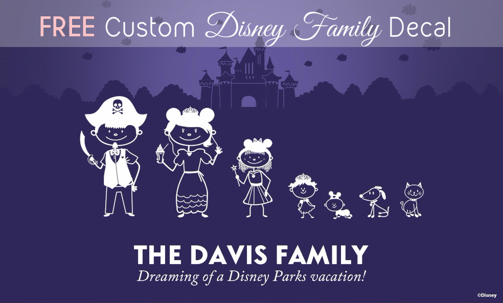 free custom disney family decal