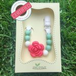 Little Sprouts Silicone Pacifier Clip and Teether