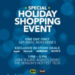 Holiday Shopping Event at Best Buy on Saturday Nov 5th!