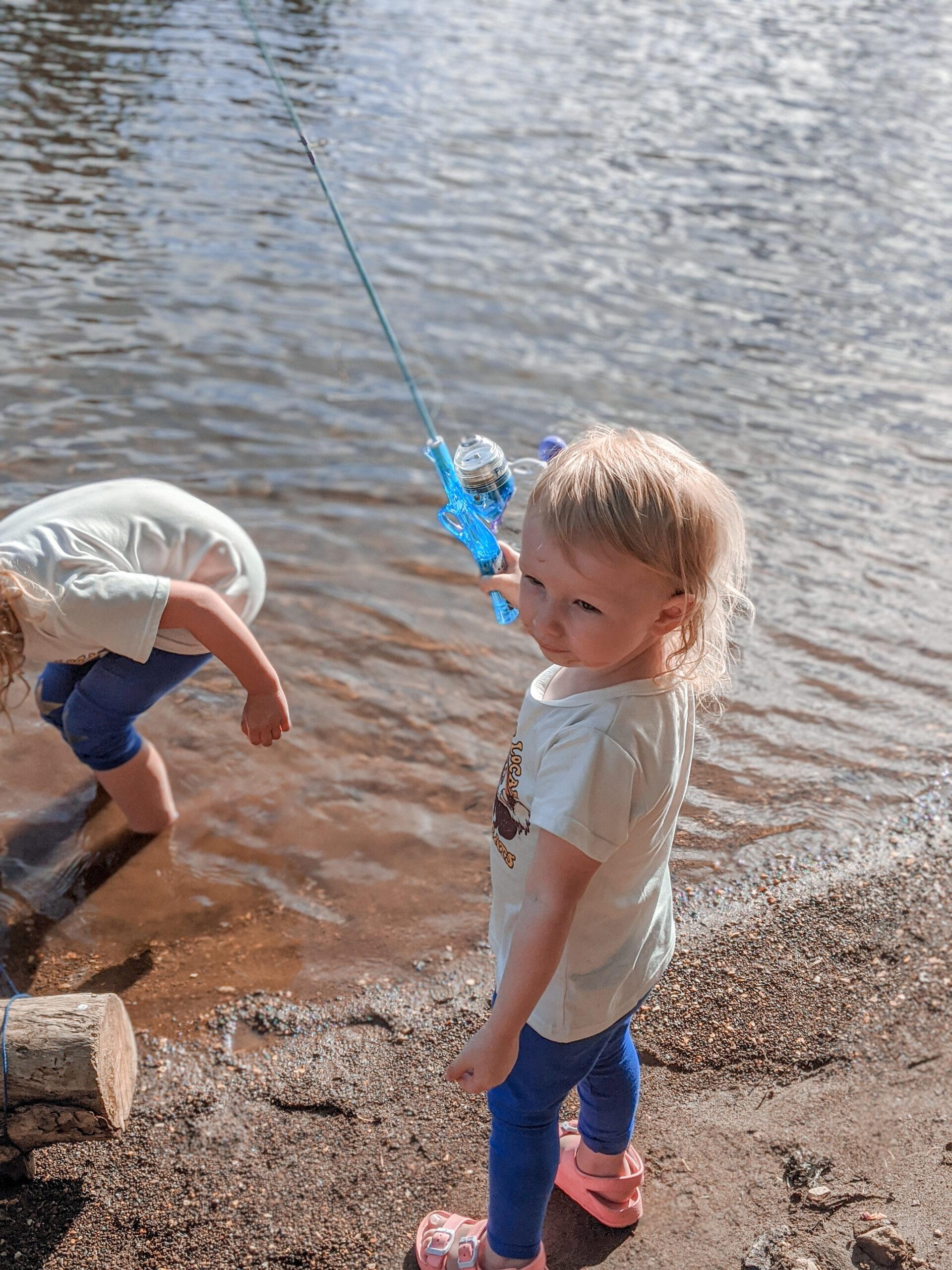 toddler fishing